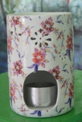 Essential Oil Burner (Pink Flowers)